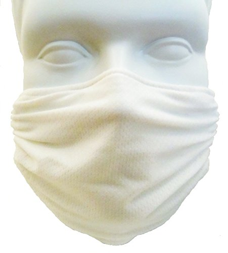 Breathe Healthy Honeycomb Face Mask - Dust/Allergy Mask, Flu Mask (White) ()