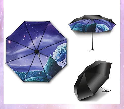 d243aed002fe Marriarics Travel Umbrella Windproof, Black Glue Anti UV Coating, Compact  Folding Umbrellas for Women