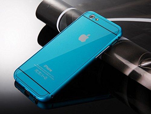 Chivel (TM) Aluminum Metal Bumper Hybrid Protector Case Cover for Apple iPhone 6 / iPhone 6 Plus (Blue (iPhone 6 Plus))
