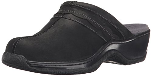 Softwalk Women's Abby Mule, Black Oil, 12 W US by SoftWalk