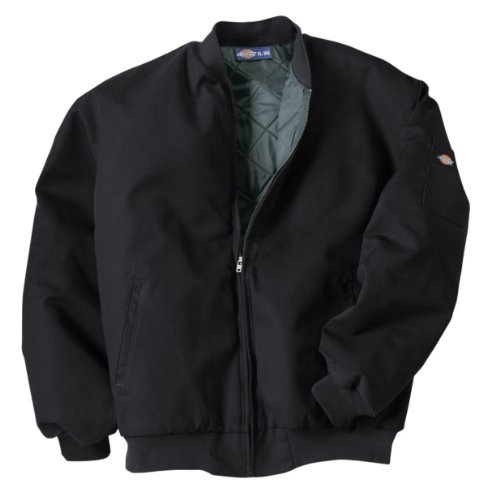 Dickies Occupational Workwear Jtc2bk M Polyestercotton Insulated Team Jacket With Slash Front Pockets, Medium, Black
