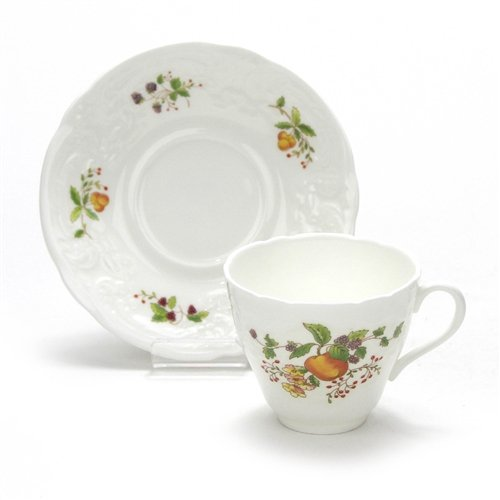 Wenlock Fruit by Coalport, China Demitasse Cup & Saucer