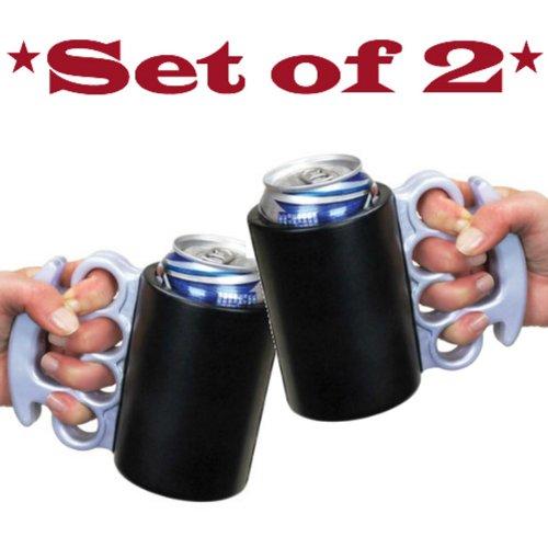 Brass Knuckles Can Kooler *Set of 2