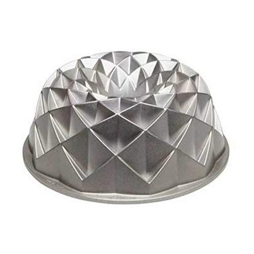 Fluted Bundt Pan Metallic Cookware Cast Aluminum 2.5 Quart Peaks Diamond Appearance Cake Kitchen Intricate Modern Design & eBook By JEFSHOP