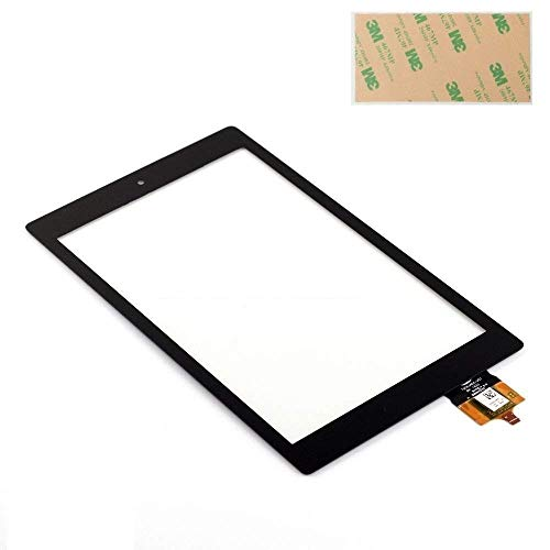 Touch Screen Glass Digitizer Replacement for 8 inch Fire HD 8 (6th Gen 2016 Release PR53DC) with Adhesive, NO LCD, NO Instructions (NOT for 5th 2015&7th 2017&HD 8 Kids Generation) by XR