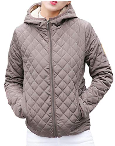 2 Short Jacket EKU Thickened Coats Parkas Hooded Outwear Women's Down zzBqTw