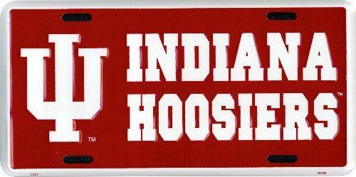 (6x12) Indiana Hoosier NCAA Tin License Plate ()