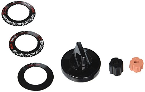 Range Kleen 8211 Black Gas Range & Oven Replacement Knob Kit