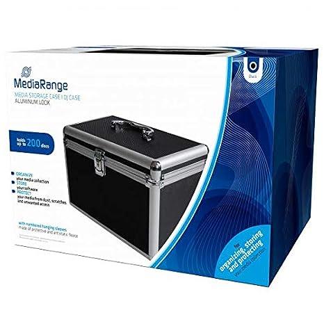 MediaRange BOX71 200discos Negro Funda para Discos ópticos - Fundas para Discos ópticos (200 Discos, Negro)