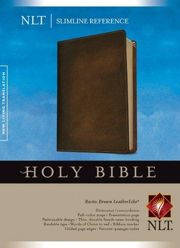 (Slimline Reference Bible NLT (Red Letter, LeatherLike,)