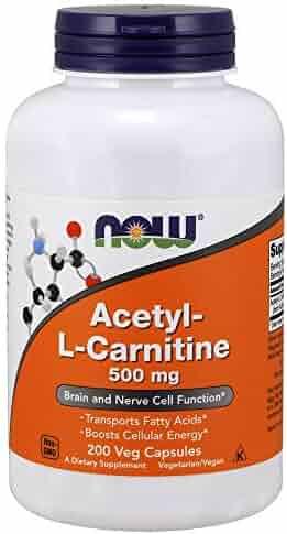 NOW® Acetyl-L-Carnitine, 500 mg, 200 Veg Caps