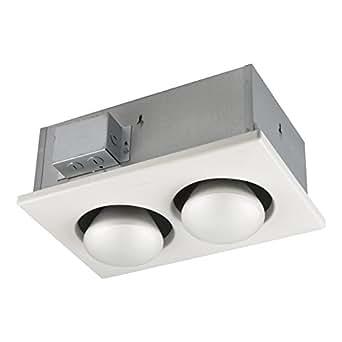 Broan 163 Type IC Infrared Two-Bulb Ceiling Heater, 250 Watt