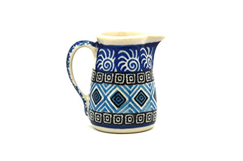 Polish Pottery Miniature Pitcher - Aztec Sky