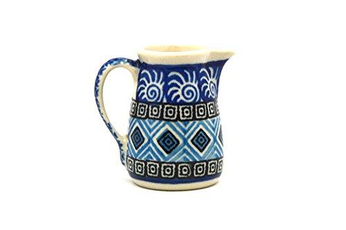 Polish Pottery Miniature Pitcher - Aztec (Miniature Pottery Pitcher)