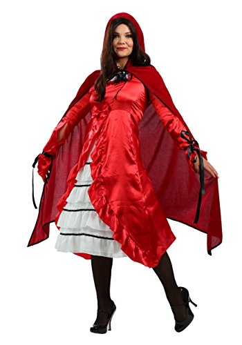 Plus Size Fairytale Red Riding Hood Costume 3X - David Hasselhoff Fancy Dress Costume