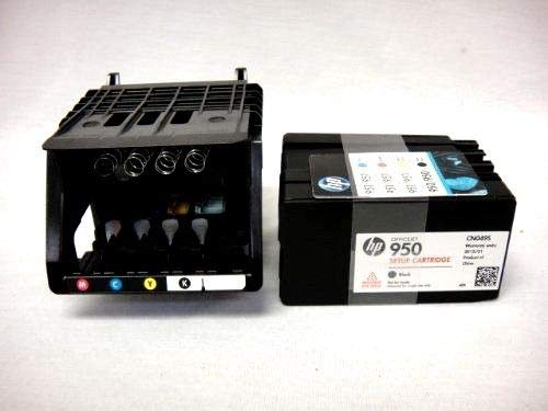 Printhead kit with Replacement cartridges New OEM Sealed CR322A 950 951 USA ()