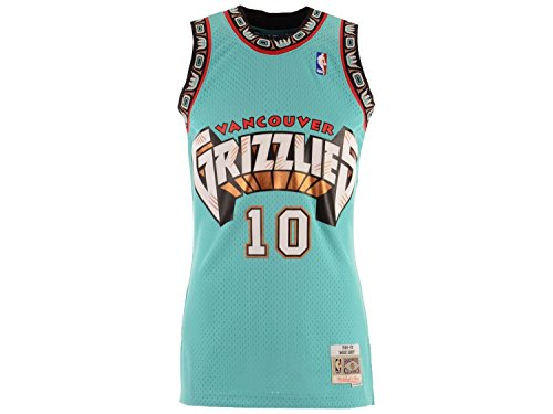 Mike Bibby Vancouver Grizzlies Mitchell and Ness Men's Teal Throwback Jersey Large from Mitchell & Ness