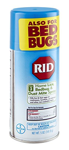 Rid Home Lice, Bedbug And Dust Mite Spray - 5 Ounces (Value Pack of 4)