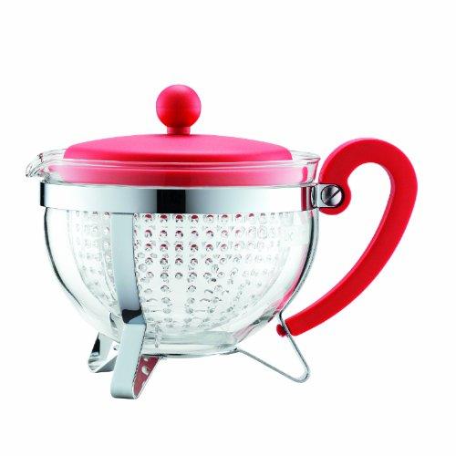 Bodum Chambord 1-Liter Tea Pot, 34-Ounce, Red
