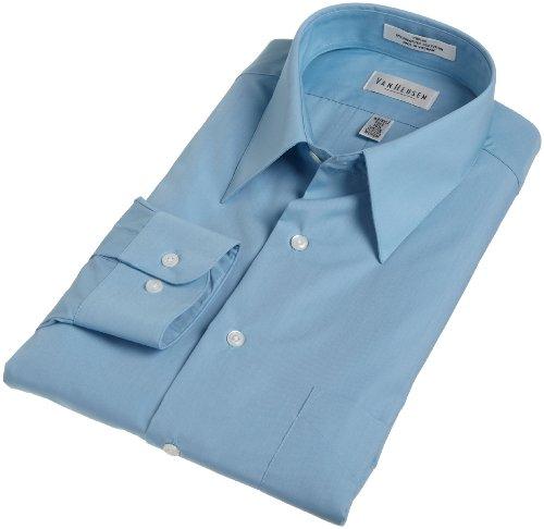 Van Heusen Men's Wrinkle Free Poplin Solid Shirt