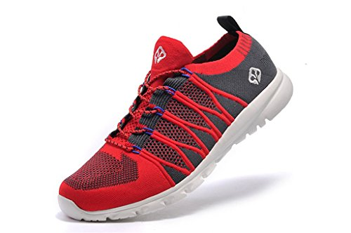 senximaoyi Spring, summer, wear-resisting breathable light shoes,Red,9 by senximaoyi