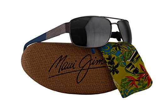 Maui Jim Ohia Sunglasses Satin Grey Blue w/Polarized Neutral Grey Lens - Sunglasses Clooney
