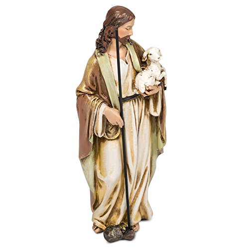 Good Shepherd Lamb Holy Statue Jesus Christ Protection 6 Inch Statue Religious Gift