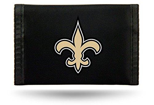- Rico Industries NFL New Orleans Saints Nylon Trifold Wallet
