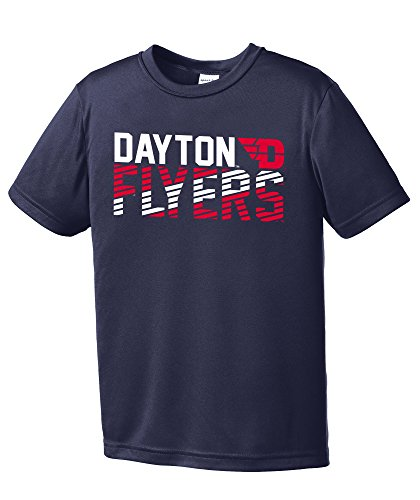NCAA Dayton Flyers Youth Boys Diagonal Short sleeve Polyester Competitor T-Shirt, Youth - Stores Dayton