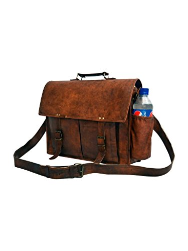 Messenger of Leather Handmade Vintage Leather Briefcase for Men & Women. 11'' x 15'' x 4.5'' by Messenger of Leather (Image #1)