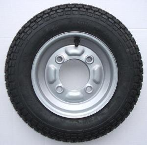 3.50 x 8 inch trailer wheel and tyre with 4 ply tyre and 115mm PCD for Erde 102 and Maypole 711 Pt no. LMX777 Leisure Mart