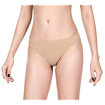 MOLLDAN Pro Dance Ballet Briefs for Women and Girls Seamless Gymnastics Underpants Dancer Beige Bottoms Ballerina Underwear: Clothing