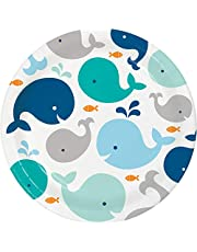 Creative Converting 322200 Blue Whale Dinner Plates, 9""