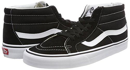 Vans Adulto White Sneaker mid 6bt Unisex A Reissue true Sk8 Collo Alto Nero black nr4x7r