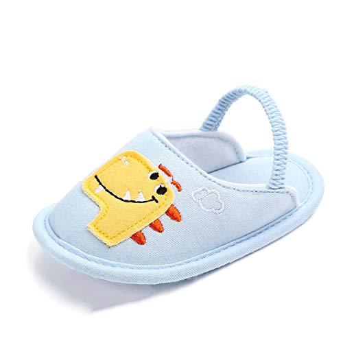 BiBeGoi Infant Baby Boys Girls Slide Slip On Flat Sandal Summer Shoes House Slippers Soft Sole Newborn Gift First Crib Shoes ()