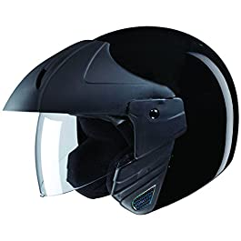 Studds Ninja Concept ECO Open Face Helmet (Black, XL)