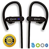 [Buy 1 Get 1 Free] EM24 Bluetooth Sports Headphones, Noise Cancelling, Waterproof IPX7, Wireless Earbuds for Sports, Running or Gym, Deep Bass HiFi Stereo in-Ear Earphones w/Mic, 7-9 hrs Playback