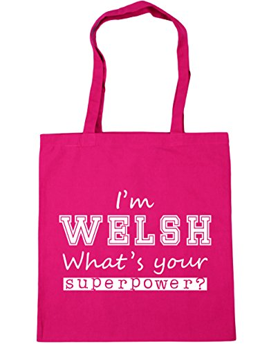 x38cm Welsh Superpower Your Bag Gym Shopping Fuchsia Beach 10 litres I'm 42cm Tote What's HippoWarehouse 5qnPSw