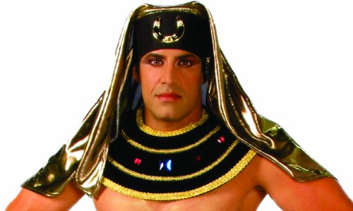 [Alexanders Costumes Pharaoh Headpiece, Black, One Size] (Period Piece Halloween Costumes)