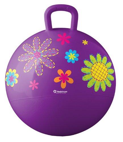 18 Inch Yellow Hop Ball - Hedstrom Flowers Hopper Ball, Kid's Ride On, Bouncy Ball 18