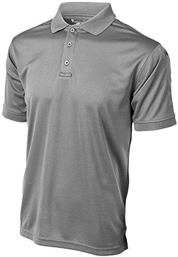 Gear Polo Top - LA Police Gear Men's Anti-Wrinkle Moisture Wicking Recon Jersey Polo Shirt - Grey-M
