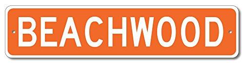 "The Lizton Sign Shop Beachwood, Ohio U.S.A. Custom America Aluminum Metal Street Sign - Orange - 6""x24"""