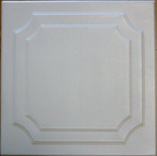 Yalta Foam-based Ceiling tile in Antique White (Semi-Gloss) - ~20x20
