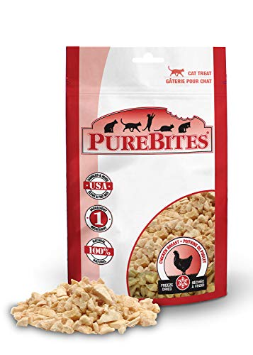 Purebites Chicken Breast Cat Treat 3 Pack (1.80 Ounces Total)