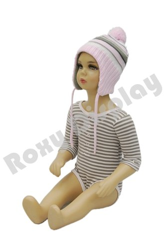ROXYDISPLAY™ Plastic Child kid Baby Mannequin. 6-12 Months Old Sitting Pose Turnable Arms(PS-KD-10)]()