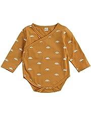 طفل الفتيان بنات حللا الرضع مطبوعة نمط رومبير كم طويل الخامس الرقبة قطعة واحدة 0-12 أشهر (Size : 9M)