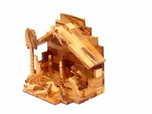 Olive Wood Nativity Set- Hand Made by Holylandmarket (Image #2)