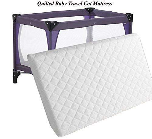 New Baby Toddler Travel Cot Foam/Mattress Waterproof Cover Quilted fits Most Graco Mamas & Papas Redkite Babystart etc Breathable Antiallergenic Reversible UK Made High Density Foam Sizes 120x60x13 Bedding Studio ®