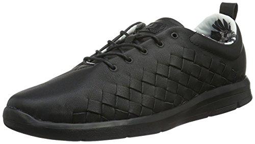 Vans Mens Tesella Sneaker Alta Moda In Pelle Alla Caviglia Nera