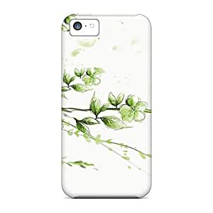 Flexible Tpu Back Case Cover For Iphone 5c - Hummingbird On White